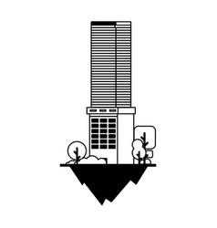 Apartment and office building urban landscape vector