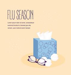 Autumn illness season design cold and sick vector