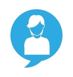 avatar person in speech bubble vector image