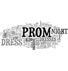Best prom dress text word cloud concept vector
