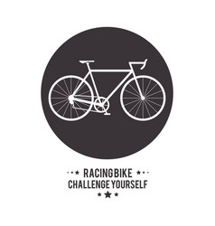 Bike cycle bicycle racing challenge yourself icon vector