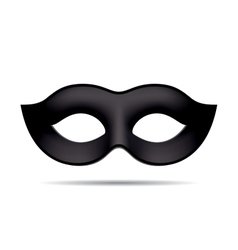 Black carnival mask vector image