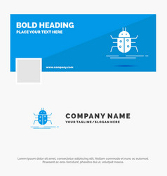 blue business logo template for bug bugs insect vector image