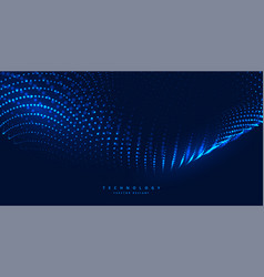 Blue digital technology background with glowing vector