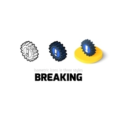 breaking icon in different style vector image