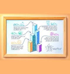 business hand drawn infographics vector image