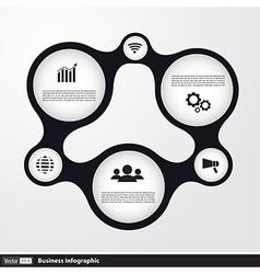 Business infographic shape vector image