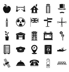 cab icons set simple style vector image
