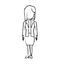 Cartoon business woman character female employee vector