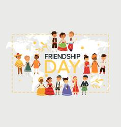 Children nationalities kids characters vector