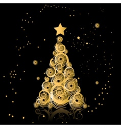 Christmas tree beautiful vector image