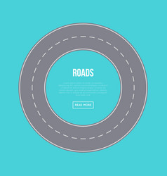 city traffic concept with road ring vector image