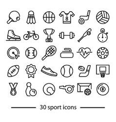 Collection sport line icons vector