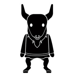 cute minotaur icon vector image