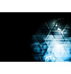 Dark blue technology background vector image