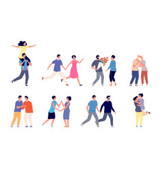different couples in love couple lifestyles flat vector image