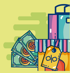 Digital marketing and online shopping vector