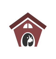 dog house logo concept icon design vector image