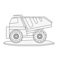 Dump truck heavy machinery construction icon image vector