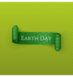 Earth Day realistic scroll festive Ribbon vector