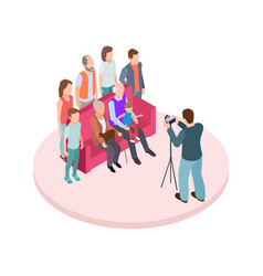 family portrait isometric vector image