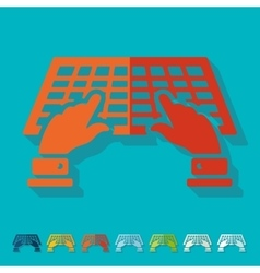 Flat design using the keyboard vector image