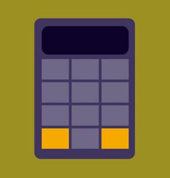 Flat icon on stylish background economy calculator vector