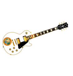 Florida flag guitar guitar vector