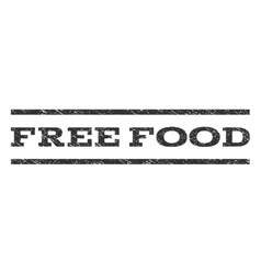 Free Food Watermark Stamp vector