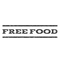 Free food watermark stamp vector