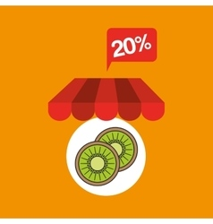 Fruit kiwi discount shop online icon vector