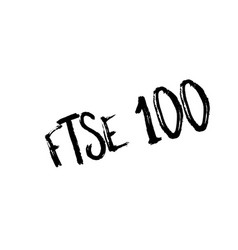 Ftse 100 rubber stamp vector
