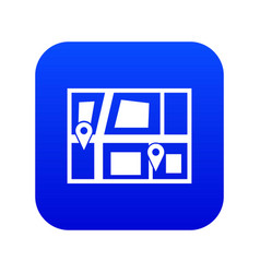 geo location of taxi icon digital blue vector image