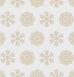 Gold snowflakes on a gray background vector image