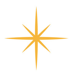 Golden glittering star shaped christmas ornament vector