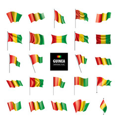 Guinea flag vector