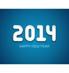 Happy New year - 2014 message design vector