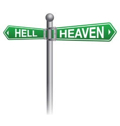 Heaven and Hell Concept vector