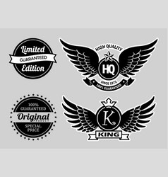 high quality label badges vector image