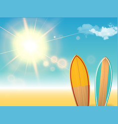 holidays vintage design - surfboards on a vector image