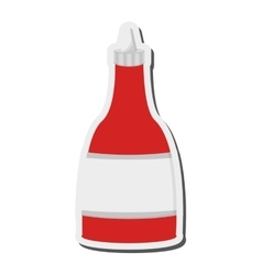 Hot sauce bottle icon vector