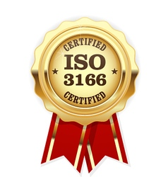 ISO 3166 standard rosette - Country codes vector image