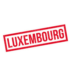Luxembourg rubber stamp vector