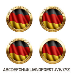 made in germany logo vector image