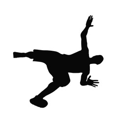 Man silhouette in falling pose vector