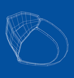 Medical surgical mask blueprint style vector