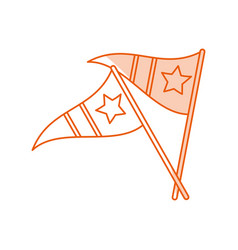 Monocromatic pennants design vector