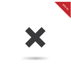 multiply icon vector image