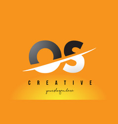 Os o s letter modern logo design with yellow vector