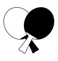 Ping pong paddles icon image vector